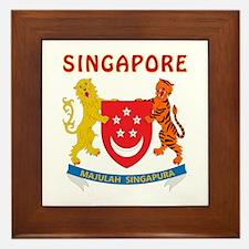 Singapore Coat of arms Framed Tile