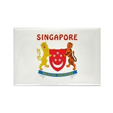 Singapore Coat of arms Rectangle Magnet