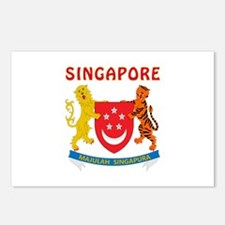 Singapore Coat of arms Postcards (Package of 8)