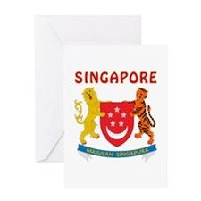 Singapore Coat of arms Greeting Card