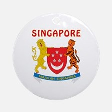 Singapore Coat of arms Ornament (Round)