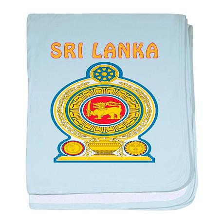 Sri Lanka Coat of arms baby blanket