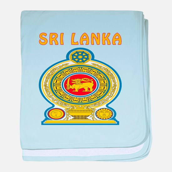 Sri Lanka Coat of arms baby blanket