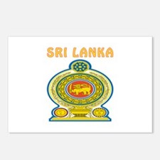 Sri Lanka Coat of arms Postcards (Package of 8)