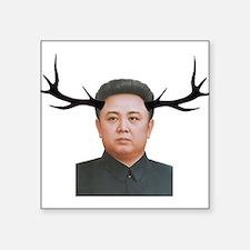 "The Deer Leader Square Sticker 3"" x 3"""