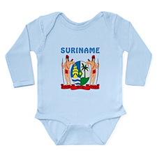 Suriname Coat of arms Onesie Romper Suit