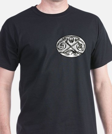 Skull & Scepter Breast Print Black T-Shirt