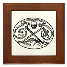 Skull & Scepter Framed Tile