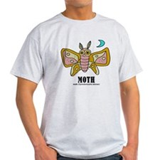 Cartoon Moth by Lorenzo T-Shirt