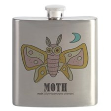 Cute Moth Flask
