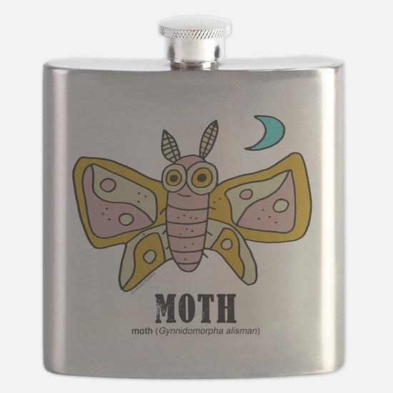 Funny Moths Flask