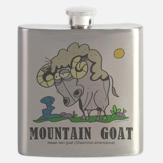 Cartoon goat Flask