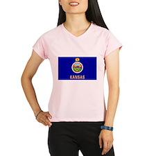 Flag of Kansas Performance Dry T-Shirt