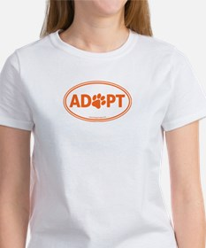 ADOPT with a Paw Women's T-Shirt