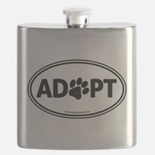 ADOPT with a Paw Flask