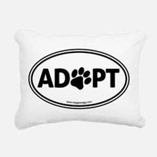 ADOPT with a Paw Rectangular Canvas Pillow