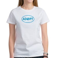 ADOPT with a Paw Tee