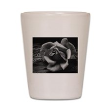Ansel Adams Rose And Driftwood Shot Glass