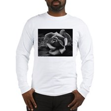 Ansel Adams Rose And Driftwood Long Sleeve T-Shirt