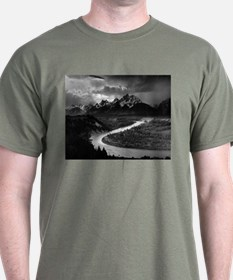 Ansel Adams The Tetons and the Snake River T-Shirt