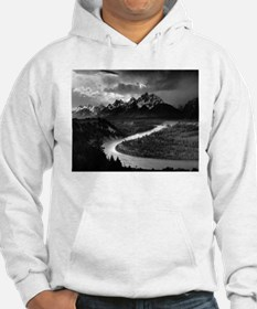 Ansel Adams The Tetons and the Snake River Hoodie