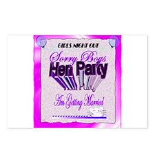 hen party sorry boys getting married art illustrat