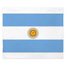 flag of Argentina King Duvet