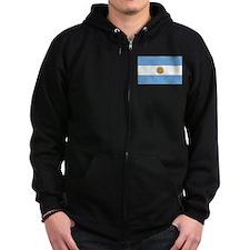 flag of Argentina Zip Hoodie