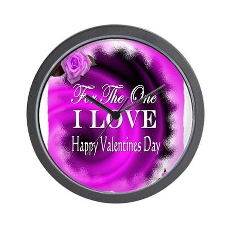 for the one i love valentines day Wall Clock