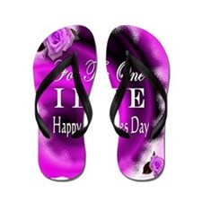 for the one i love valentines day Flip Flops