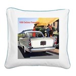 1958 DeSoto Firesweep Square Canvas Pillow