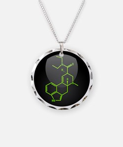 LSD molecule button Necklace