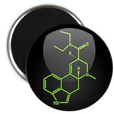"LSD molecule button 2.25"" Magnet (10 pack)"