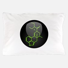 LSD molecule button Pillow Case