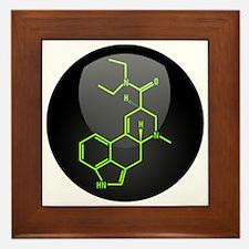 LSD molecule button Framed Tile
