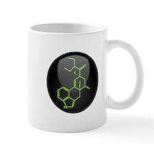 LSD molecule button Mug