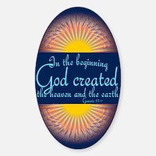 Genesis 1 1 Sunrise Sticker (Oval)