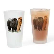 red and black chows Drinking Glass