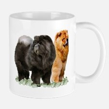 red and black chows Mug