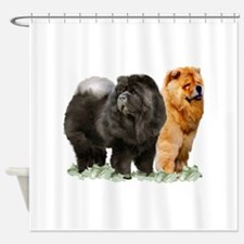 red and black chows Shower Curtain