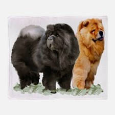 red and black chows Throw Blanket