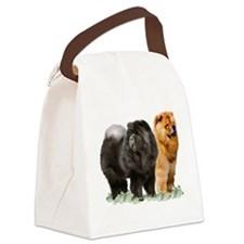 red and black chows Canvas Lunch Bag