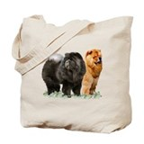 Chow chow Canvas Totes