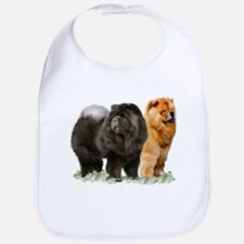 red and black chows Bib