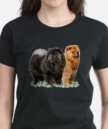 red and black chows Women's Dark T-Shirt