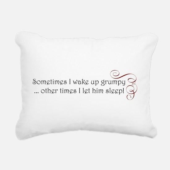 grumpy swirl.png Rectangular Canvas Pillow
