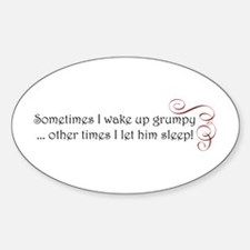 grumpy swirl.png Sticker (Oval)