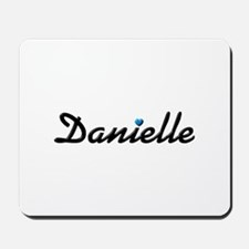 Danielle: Blue Heart Mousepad