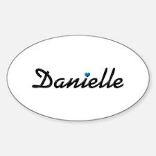 Danielle: Blue Heart Oval Decal