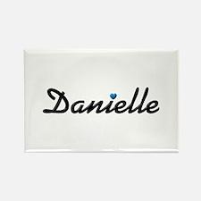 Danielle: Blue Heart Rectangle Magnet
